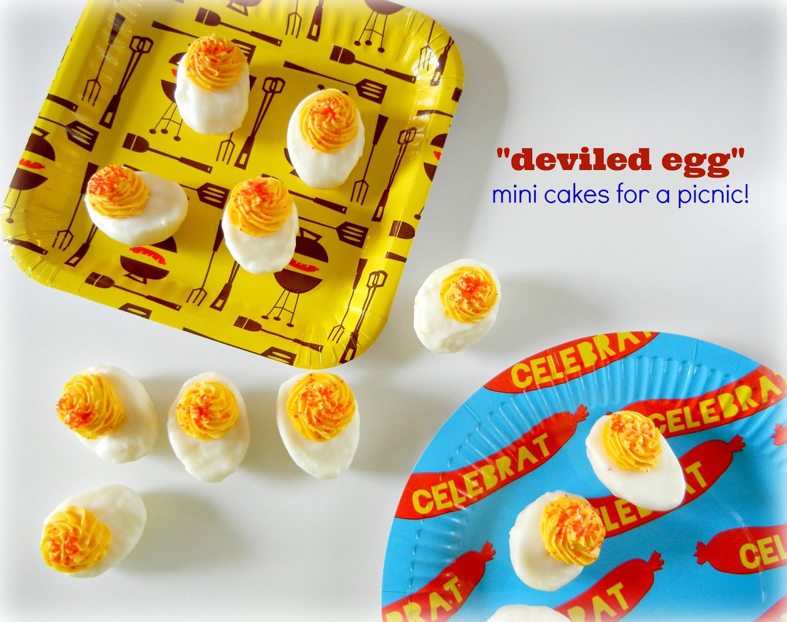 Sugar Swings! Serve Some: Deviled egg mini cakes for the Summer ...