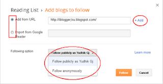 follow blog-reading list-setting