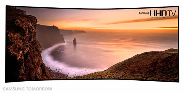 Samsung Conference at CES, theatrical release of Michael Bay, Samsung TV curved screen, new tech,