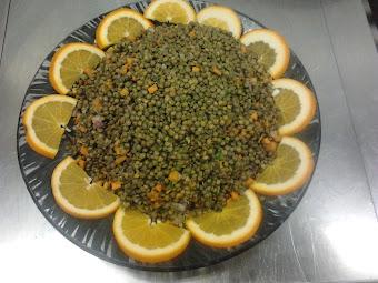 Lencse saláta