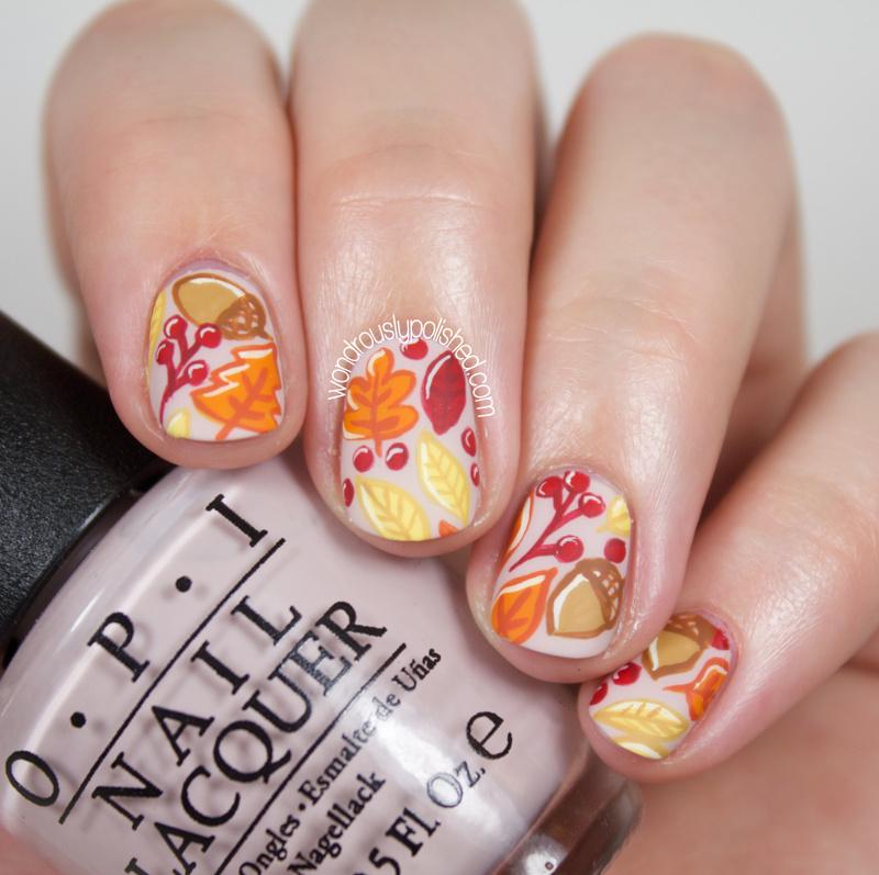 Wondrously Polished The Beauty Buffs Fall Autumn Leaves Nail Art