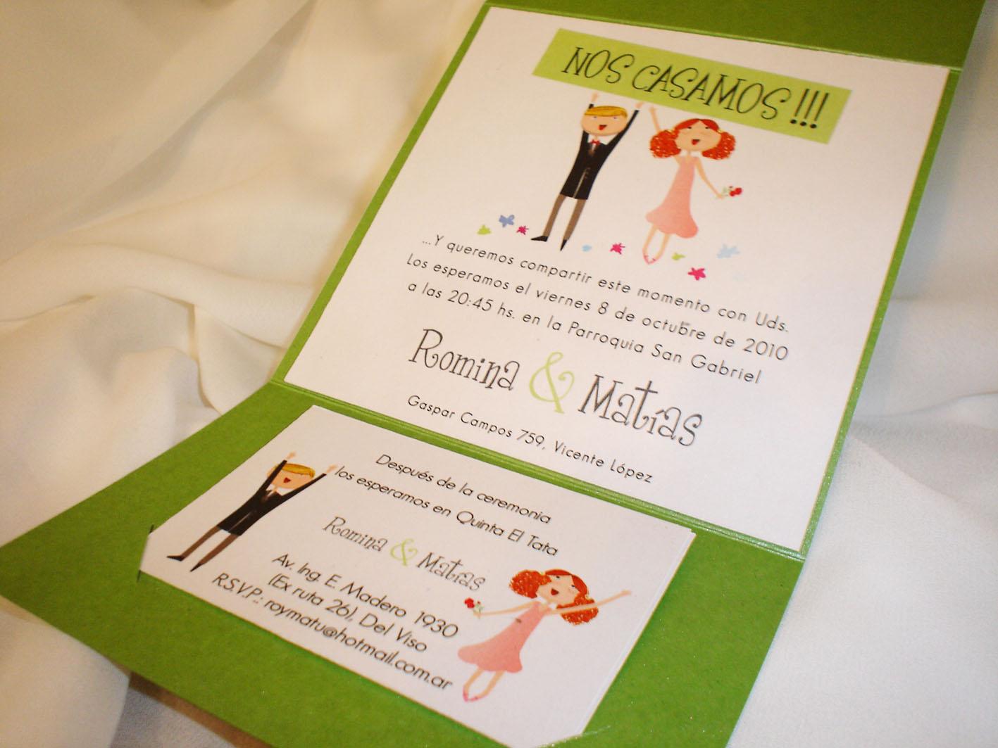 Invitaciones de bodas baratas y divertidas tattoo design - Tarjeta de boda ...
