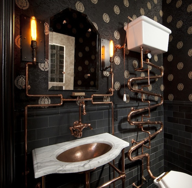 Awesome home interior things what do you think of for Steampunk bathroom ideas