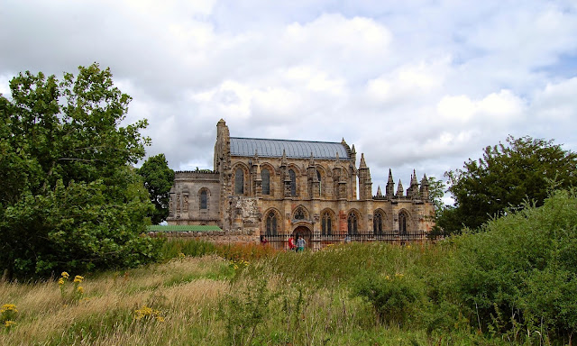 Rosslyn Chapel exterior from outside the wall