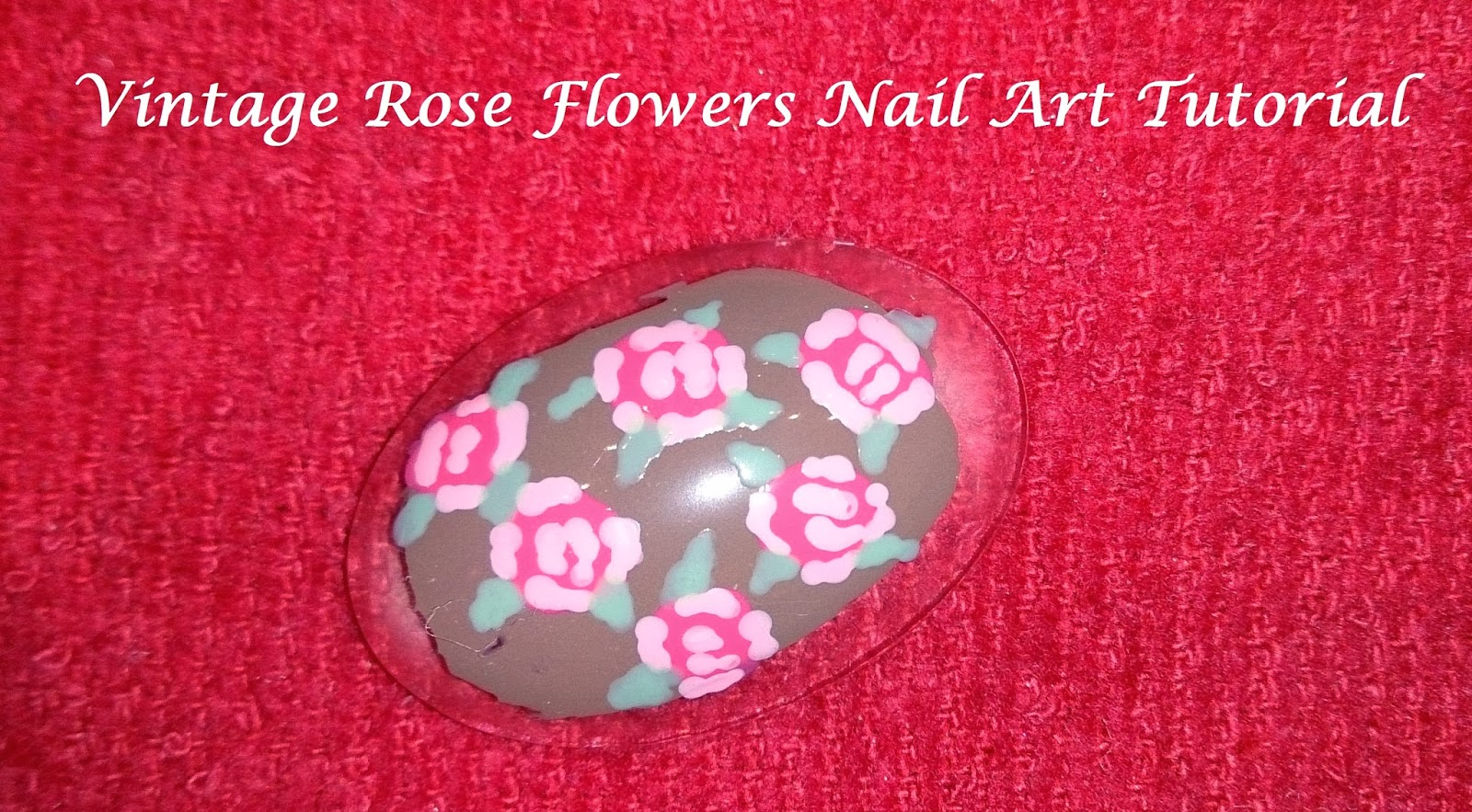 vintage rose flowers nail art flower dotting tool youtube video tutorial how to create nails