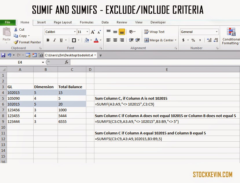 Excel Tip 14 Exclude Certain Criteria In Sumif And Sumifs