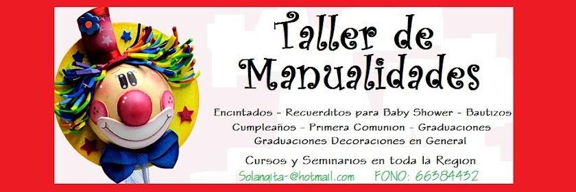 TALLER DE MANUALIDADES Y DECORACIONES