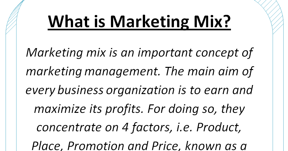4 p u0026 39 s of marketing mix - elements of marketing mix