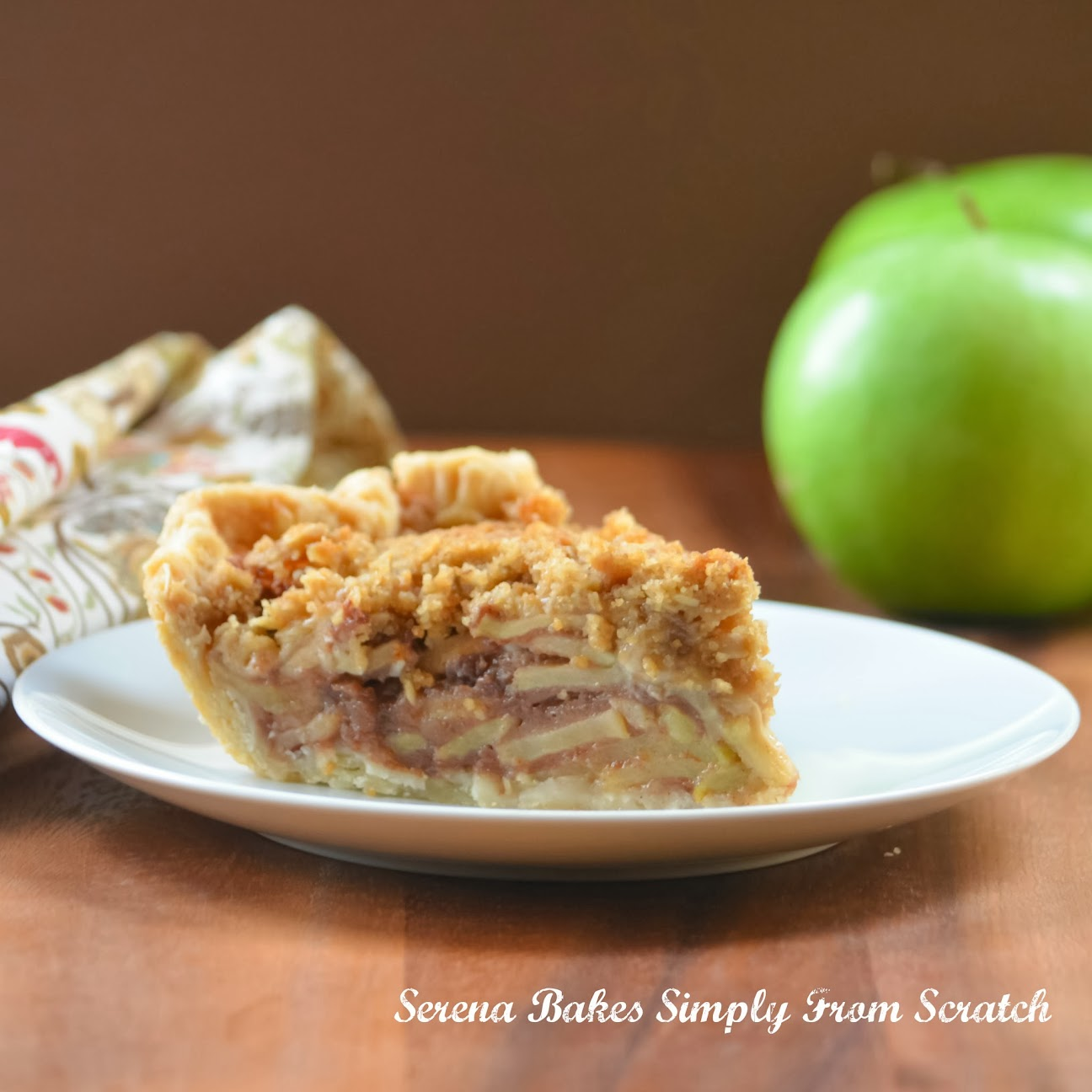 Caramely Apple Pie With Crunch Topping is a fall must have. serenabakessimplyfromscratch.com