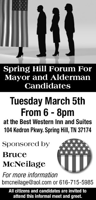 Spring Hill Citizen Election 2013 Posts - Magazine cover