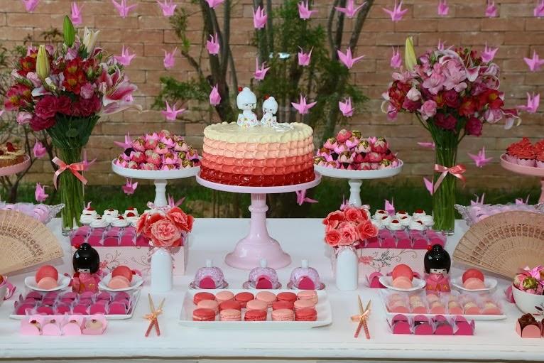 decoracao festa kokeshi:Bella Fiore Decoração de Eventos: Chá de Bebê Kokeshi