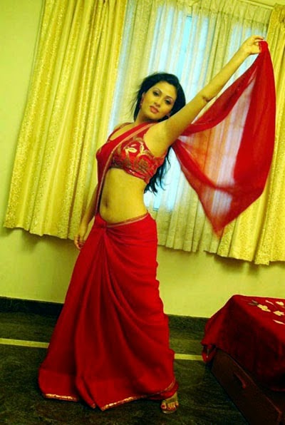 Sada Stills at Hot Red Saree