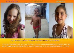 MEUS AMORES: MARIA CLARA - LUIZ ARMANDO E MONALIZA.