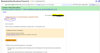 Payout Pertama Dari BLUEADVERTISE.COM