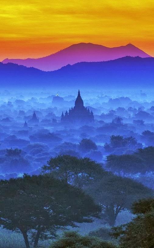 Magical Sky of Bagan, Burma.