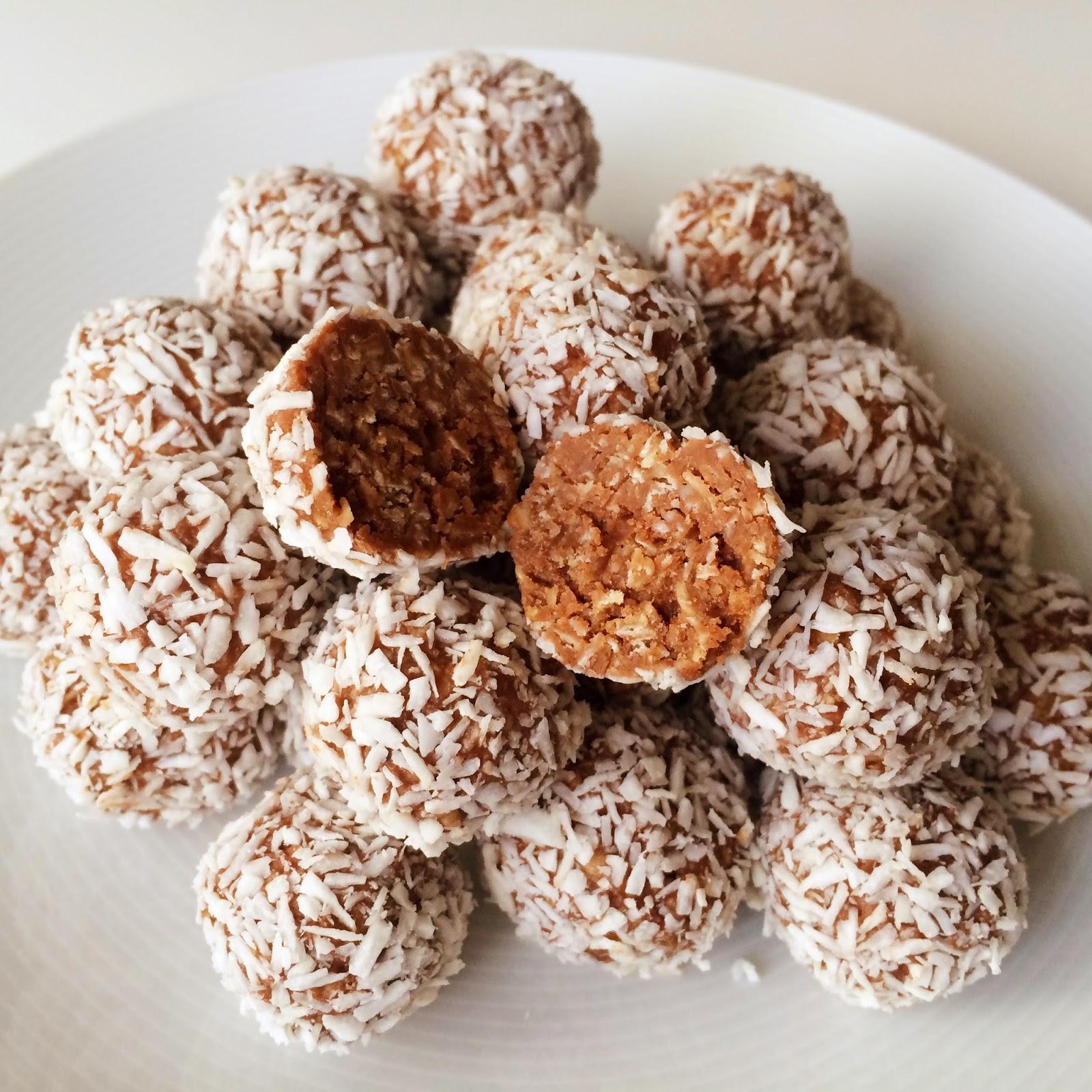 chokladbollar med florsocker