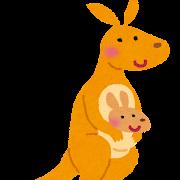 カンガルーの親子のイラスト