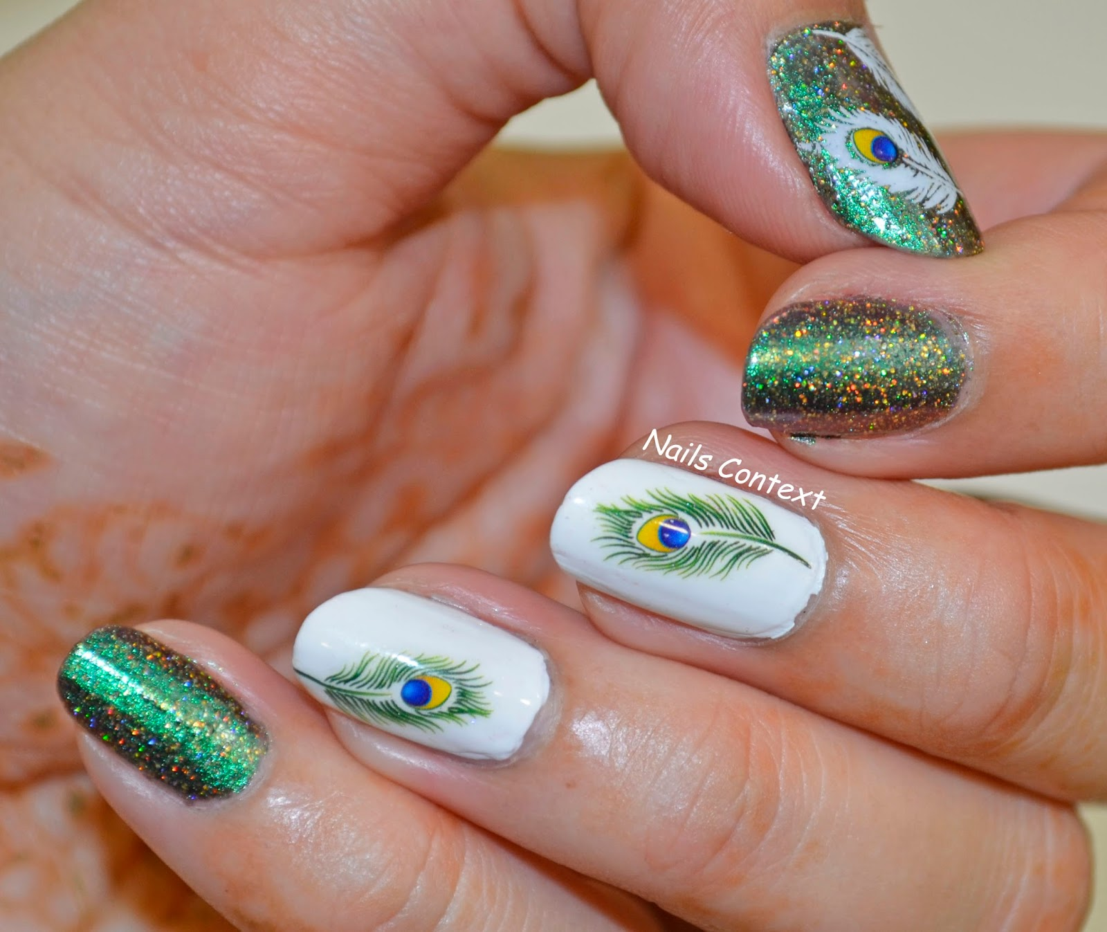 Nails Context: Peacock Feathers