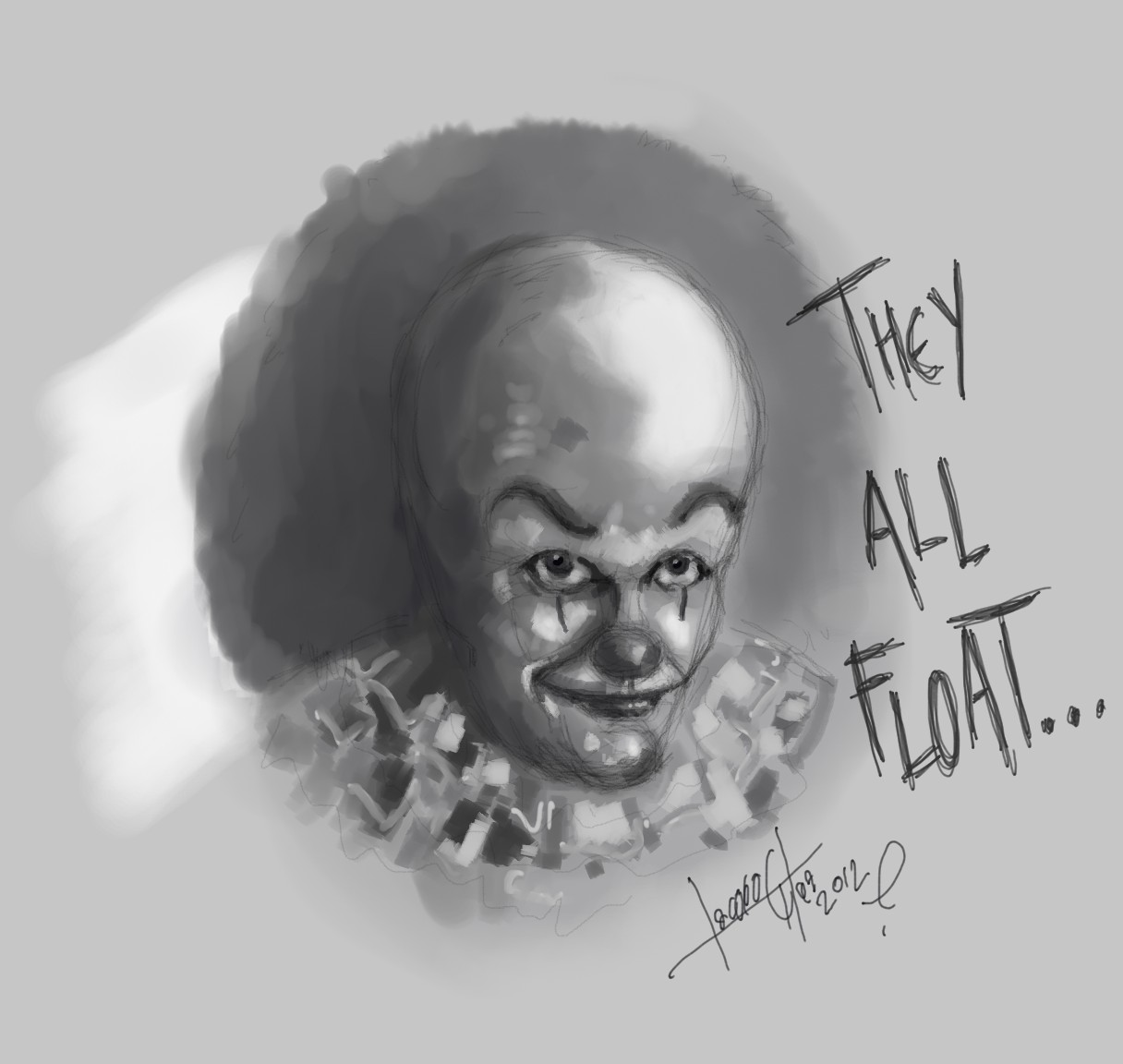 how to draw pennywise 1986