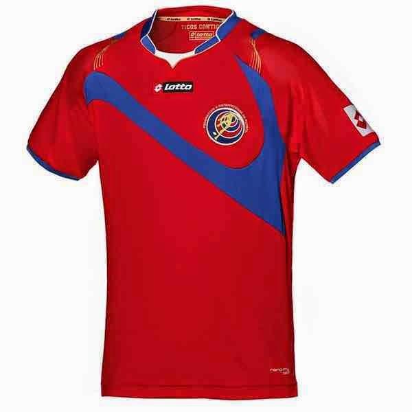 Kostum Timnas Kosta Rika Piala Dunia 2014