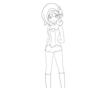 #6 Kotori Mizuki Coloring Page