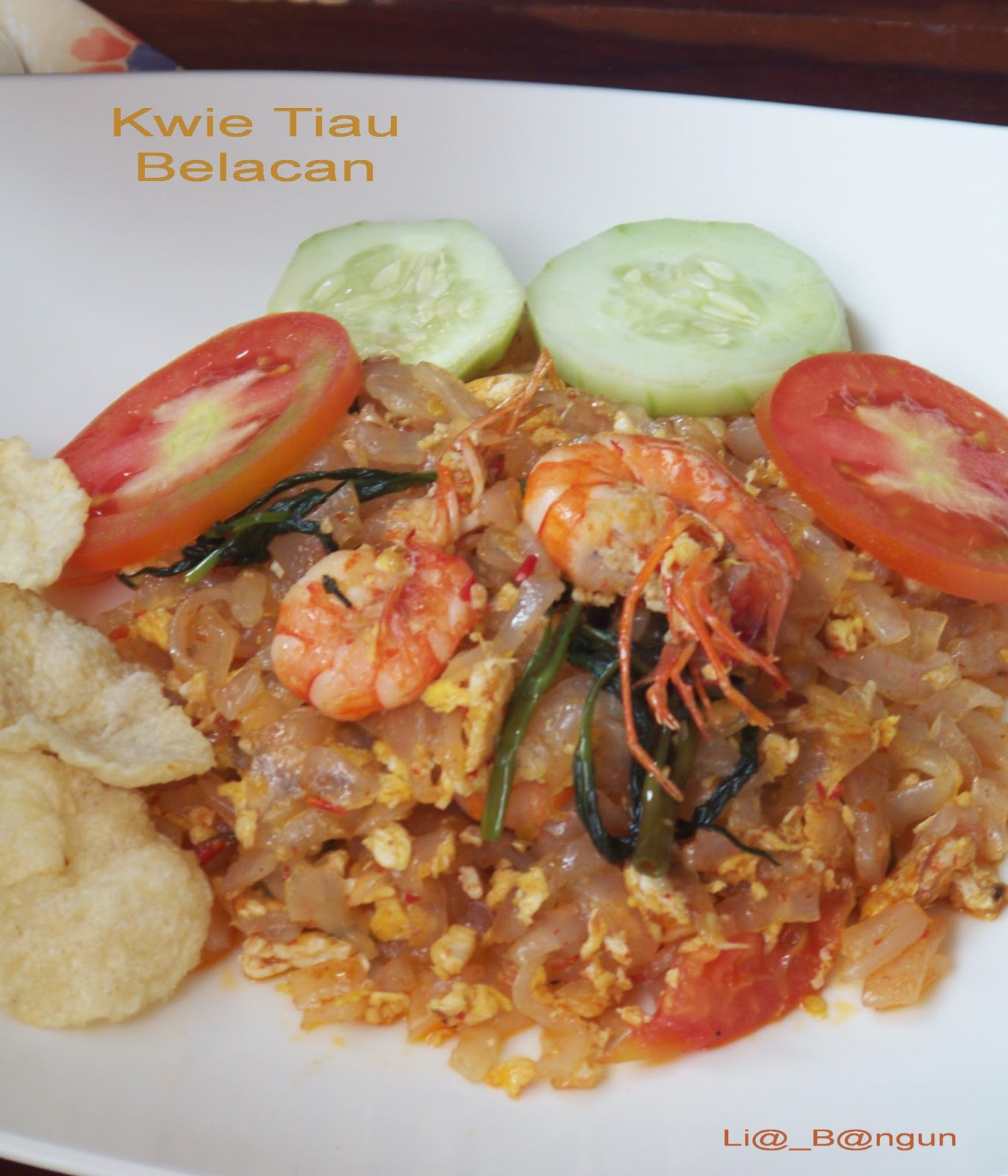 DapurCobaCoba: Kwie Tiaw Kangkung Belacan