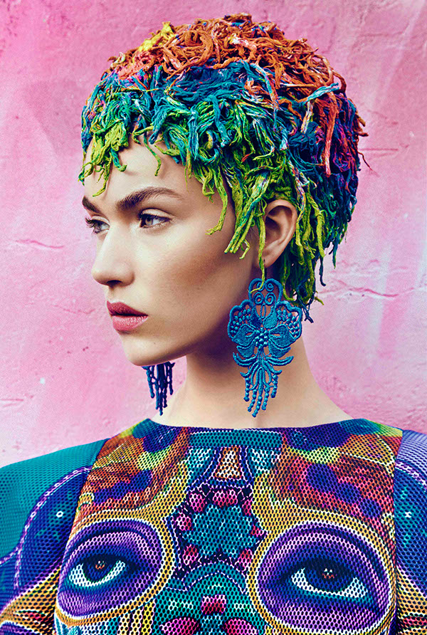 rainbow hair bright fashion