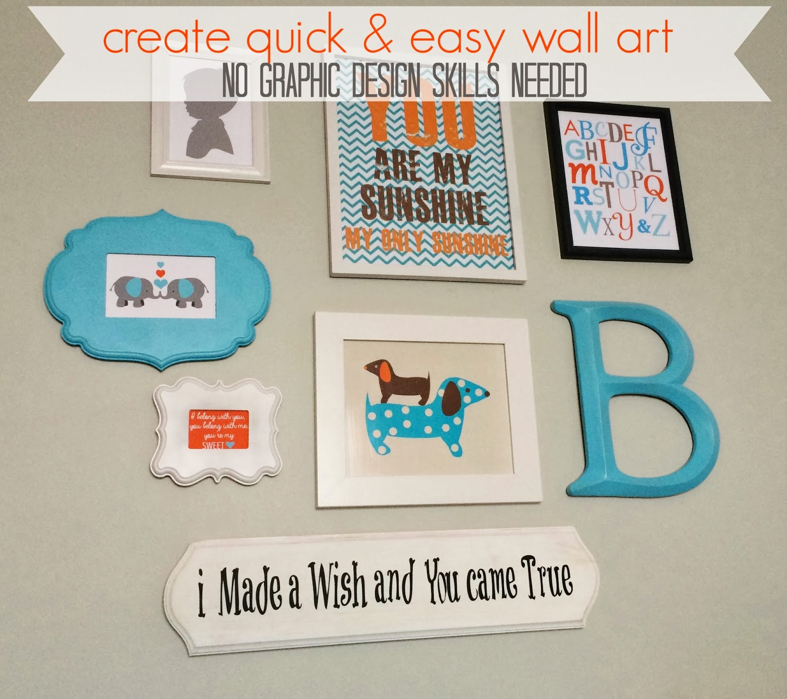 Make Your Own Wall Decor For Nursery : Create your own kid s wall art with pic monkey