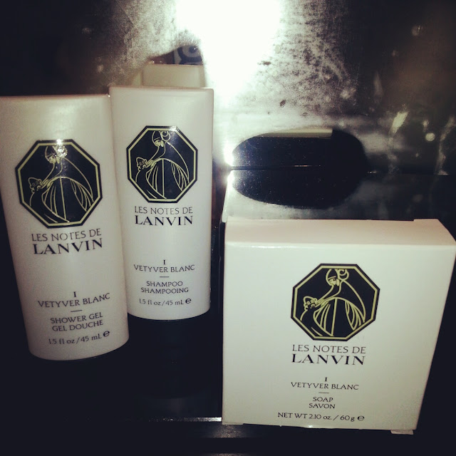 Lanvin body products at Sofitel Lisbon