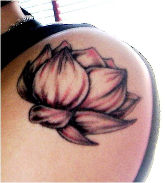 Water and Lotus Flower Tattoo