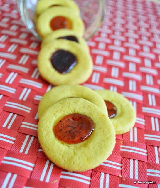 Jam Biscuits - Eggless