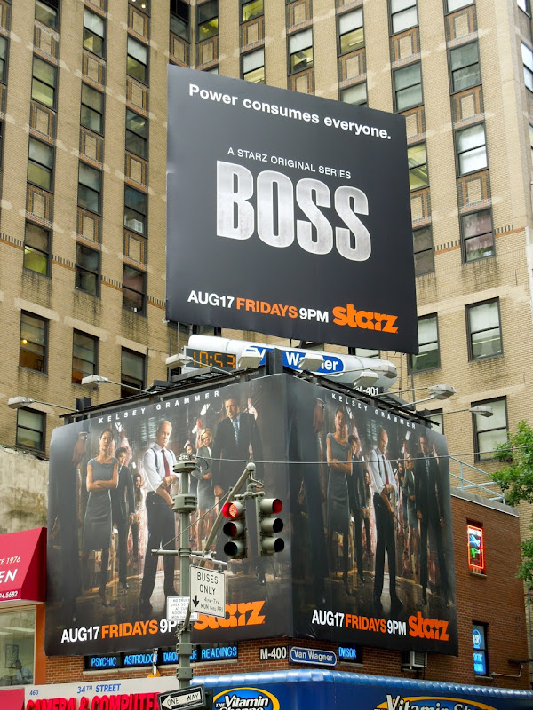 Boss season 2 billboards NYC 