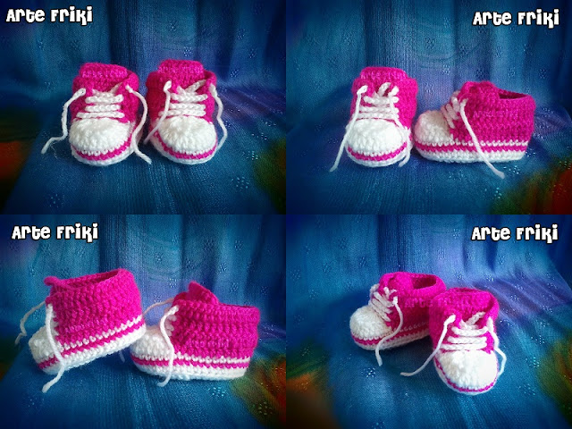 patucos ganchillos crochet slipper all star zapatillas