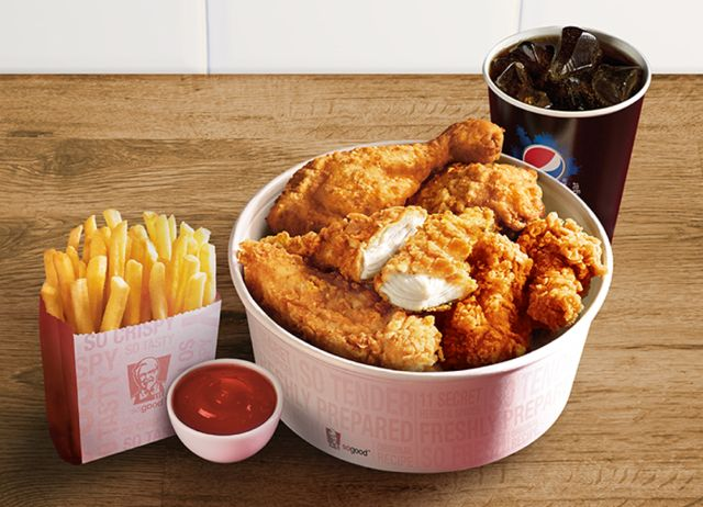 As part of the launch for new Extra Crispy Boneless Chicken, KFC is offering the piece Favorites Bucket for $ Like the name suggests, you can choose 10 pieces of chicken (a mix of legs, wings, breast, and thighs) in any of the varieties offered by KFC (Original Recipe and Extra Crispy in bone-in or boneless varieties, and Grilled).