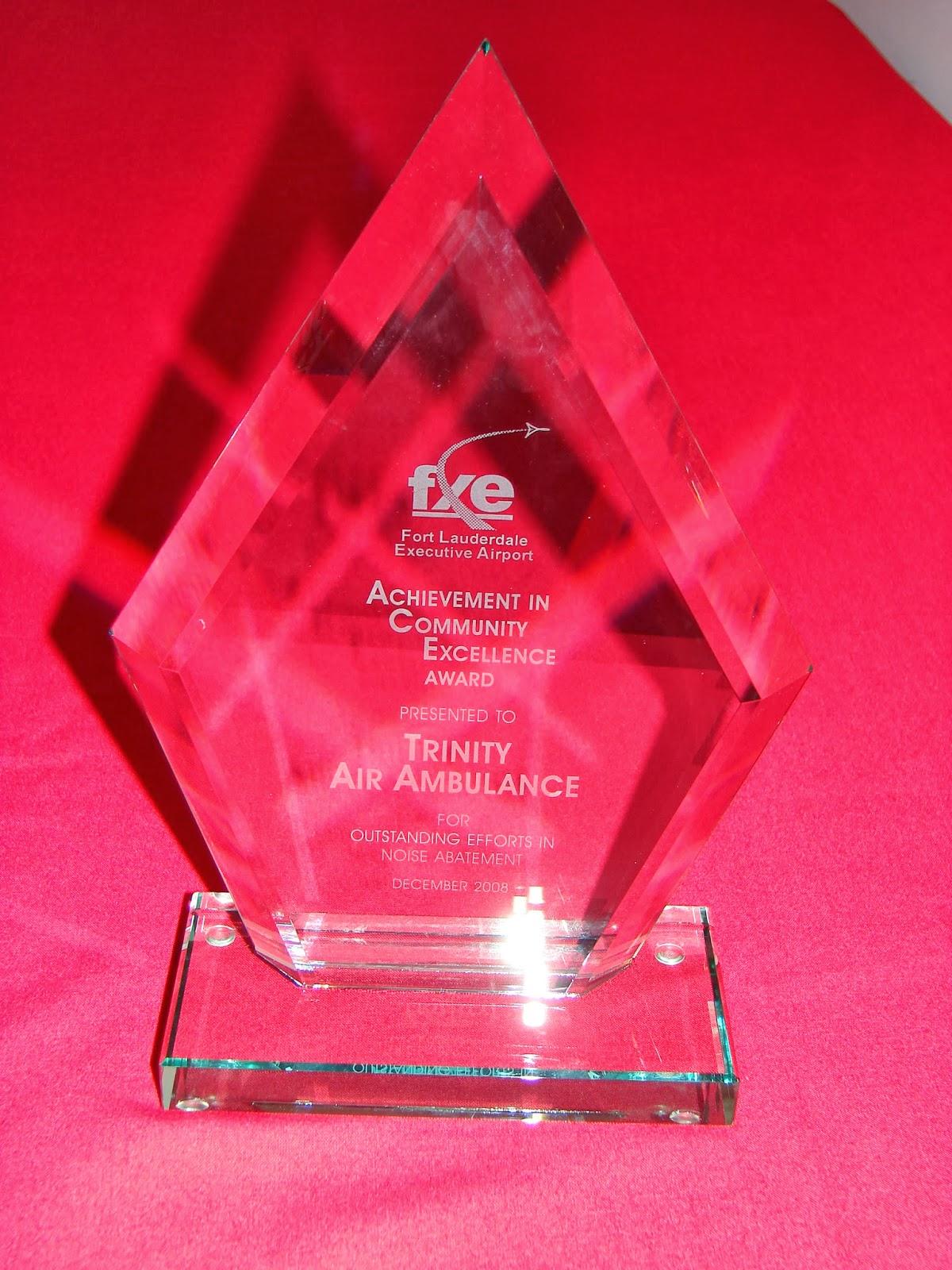 Trinity Air Ambulance Earned 208 Ace Award