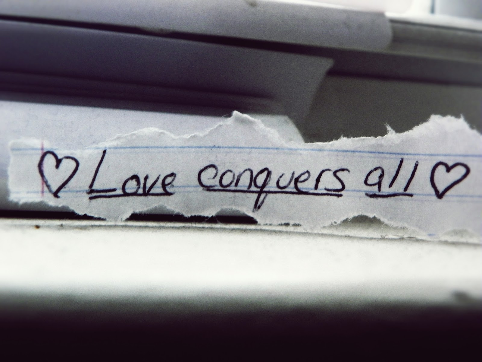 thesis for love conquers all