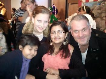 Chris Moyles,me,Sarah and Dushyant