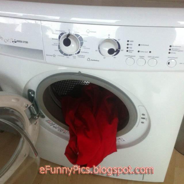 Washing Machine Sticks Out His Tongue