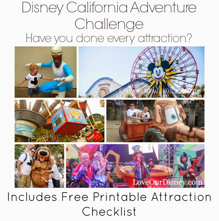 Have you done every attraction in Disney California Adventure? LoveOurDisney.com wants to know.