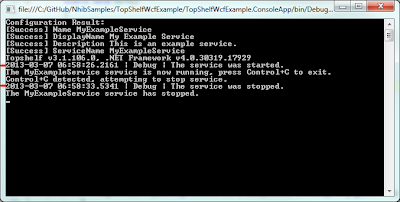 The console app being run in the debugger.