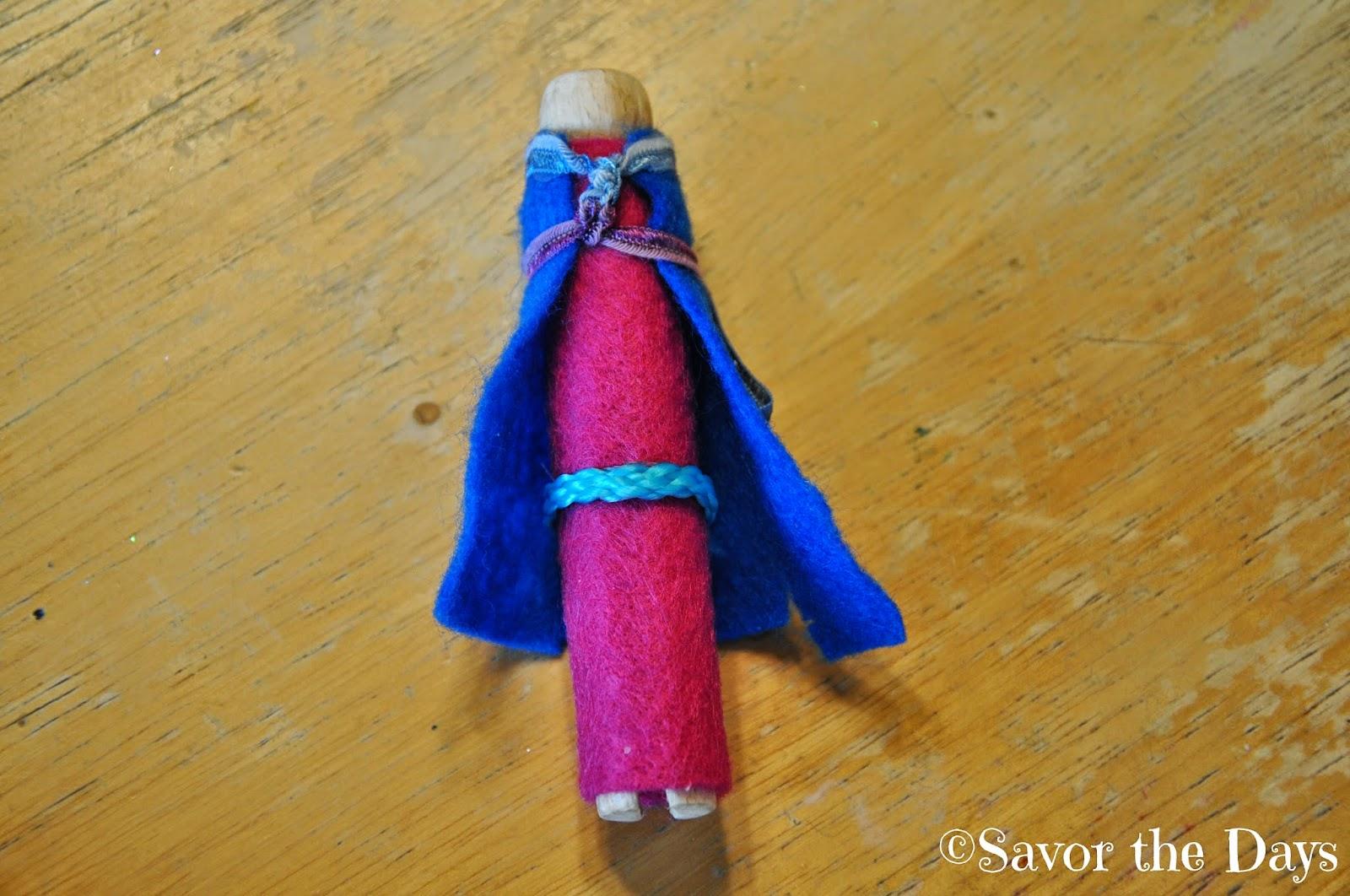 Elsa doll pin