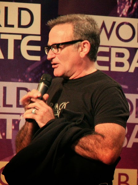 Robin Williams bei der BBC World Debatte 2008