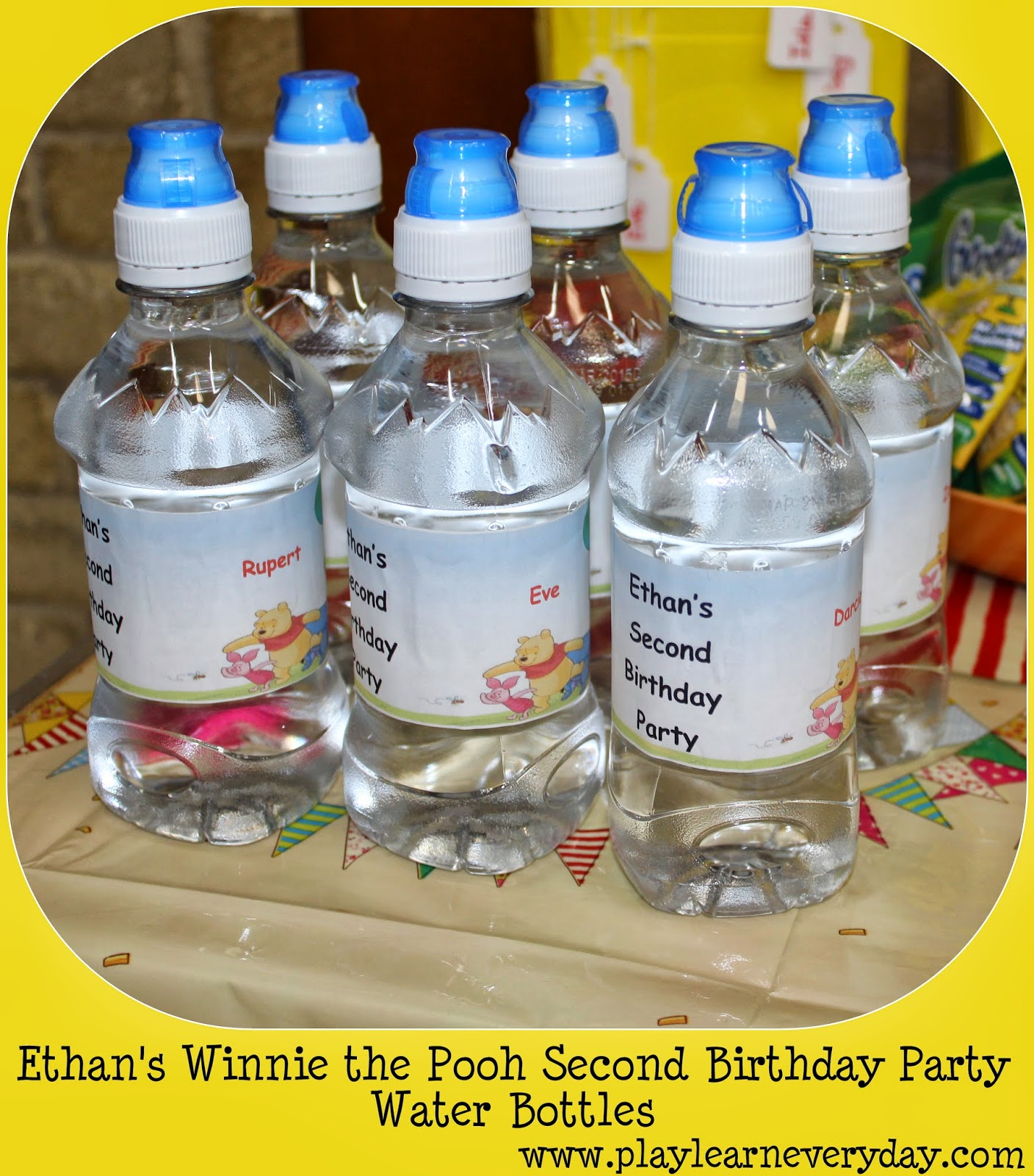 Ethans Winnie the Pooh Second Birthday Party Play and Learn Every Day