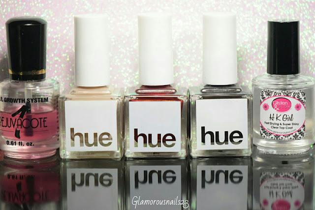 Duri Rejuvacote, Square Hue Desert Storm, Square Hue Vogue, Square Hue Y2K, Glisten & Glow HK Girl Fast Drying Top Coat
