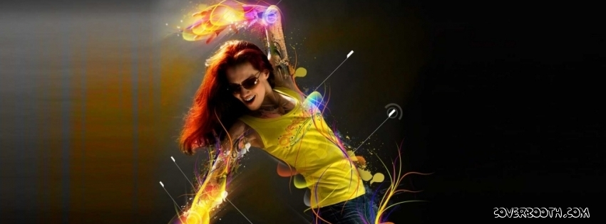 Dancing Stylish Girl Facebook Cover | Facebook Covers, FB ...
