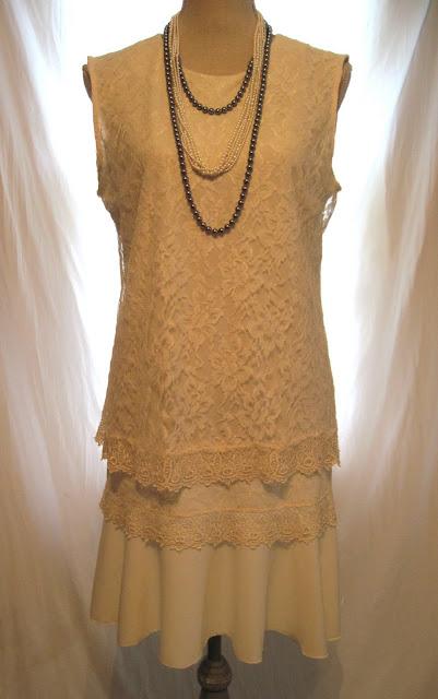 women's Gatsby style bridal white lace dress