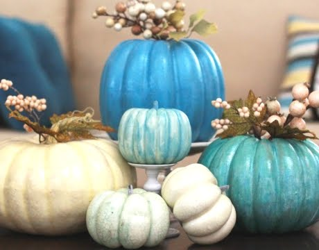 blue pumpkins