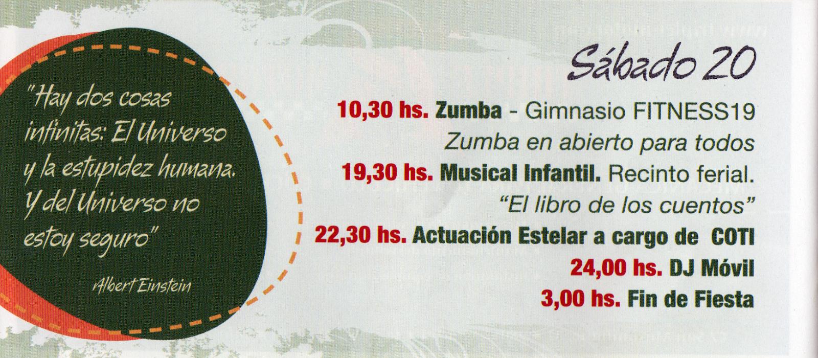 Fiesta de la Elipa 2014 - Programa de fiestas.