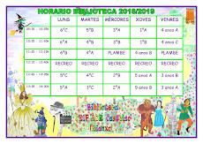 Horario 2018-2019