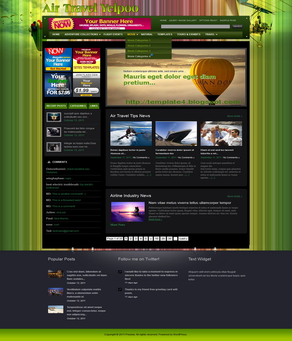 Air Travel Yelpoo WordPress Theme